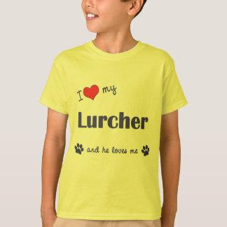 I Love My Lurcher (Male Dog) T-Shirt
