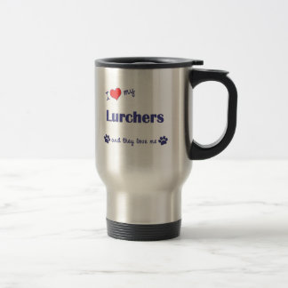 I Love My Lurchers (Multiple Dogs) Stainless Steel Travel Mug