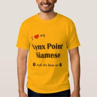 I Love My Lynx Point Siamese (Female Cat) Shirts