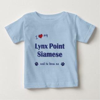 I Love My Lynx Point Siamese (Male Cat) T-shirt