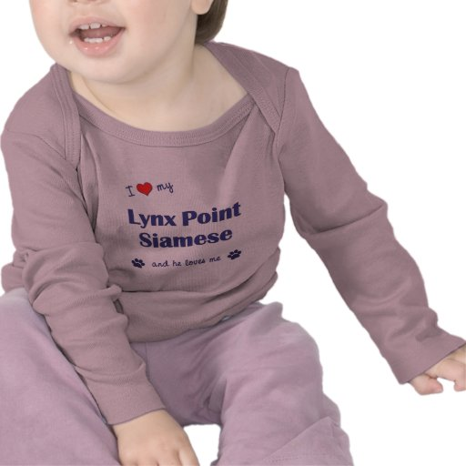 I Love My Lynx Point Siamese (Male Cat) T Shirts