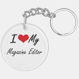 I love my Magazine Editor Double-Sided Round Acrylic Key Ring