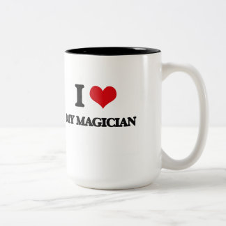 I Love My Magician Mugs