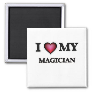 I love my Magician Square Magnet