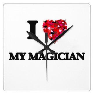I Love My Magician Wall Clock