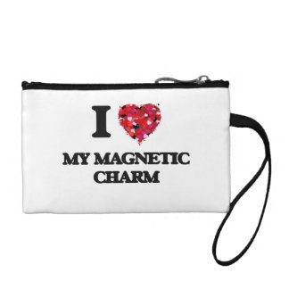 I Love My Magnetic Charm Coin Purse
