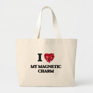 I Love My Magnetic Charm Jumbo Tote Bag