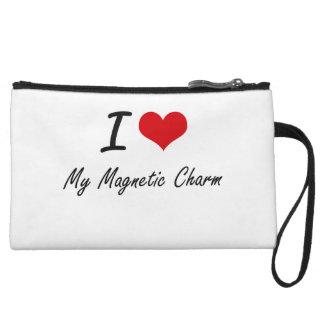 I Love My Magnetic Charm Wristlet Clutch