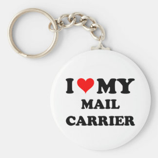 I Love My Mail Carrier Key Chains