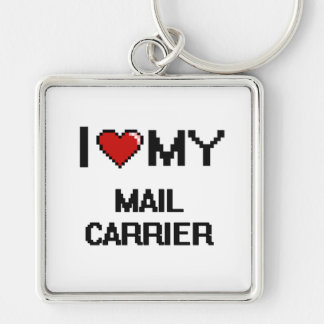 I love my Mail Carrier Silver-Colored Square Key Ring