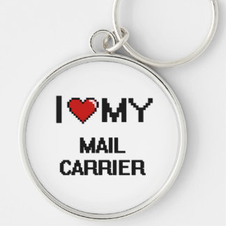 I love my Mail Carrier Silver-Colored Round Key Ring