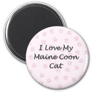 I Love My Maine Coon Cat 6 Cm Round Magnet
