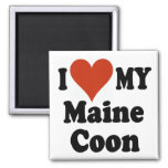 I Love My Maine Coon Cat Gifts and Apparel Square Magnet