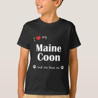I Love My Maine Coon (Female Cat) Tees