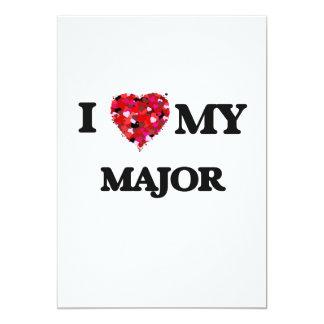 I love my Major 13 Cm X 18 Cm Invitation Card