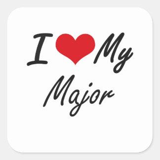 I love my Major Square Sticker