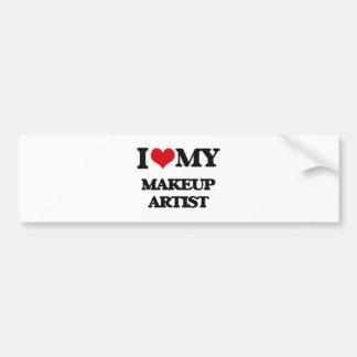 I love my Makeup Artist Bumper Stickers
