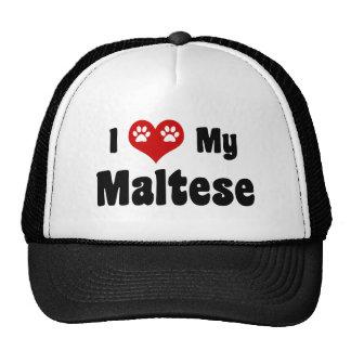 I Love My Maltese Cap
