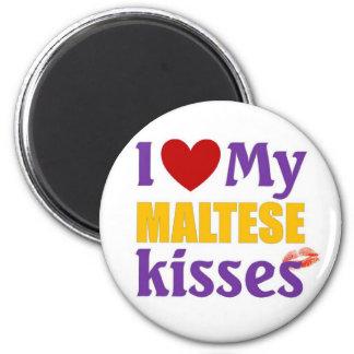 I love my Maltese Kisses Magnet