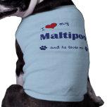 I Love My Maltipoo (Male Dog) Doggie Tee
