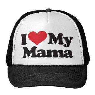 I Love My Mama Mesh Hats