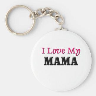 I Love My Mama Keychain