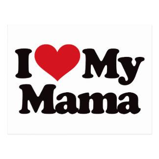 I Love My Mama Postcard