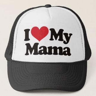 I Love My Mama Trucker Hat