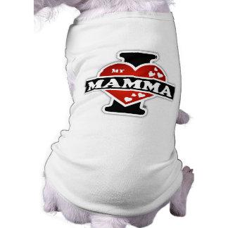 I Love My Mamma Heartbeats Doggie T-shirt