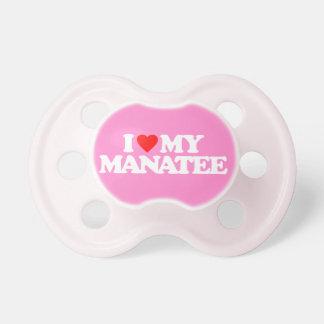 I LOVE MY MANATEE PACIFIERS