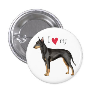 I Love my Manchester Terrier 3 Cm Round Badge