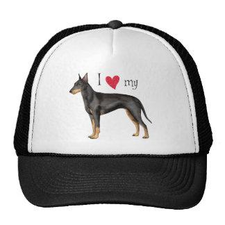 I Love my Manchester Terrier Cap
