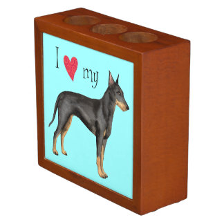 I Love my Manchester Terrier Pencil Holder