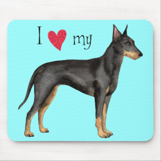 I Love my Manchester Terrier Mouse Pad