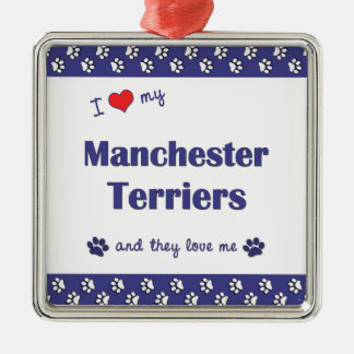 I Love My Manchester Terriers (Multiple Dogs) Christmas Ornament