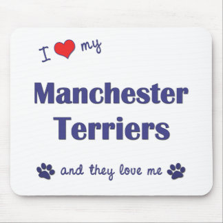 I Love My Manchester Terriers Multiple Dogs Mouse Pad