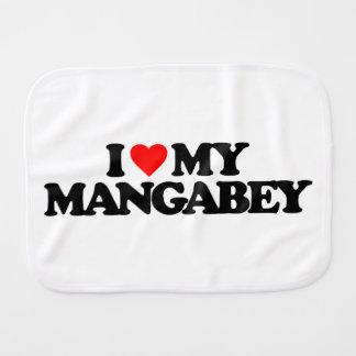 I LOVE MY MANGABEY BABY BURP CLOTHS
