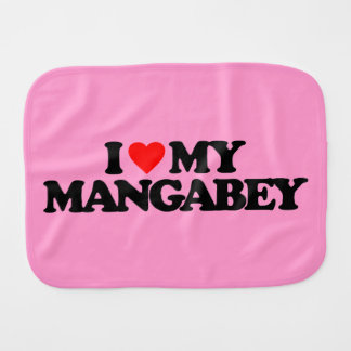 I LOVE MY MANGABEY BURP CLOTHS