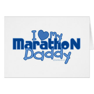 I Love My Marathon Daddy Card