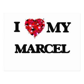 I love my Marcel Postcard