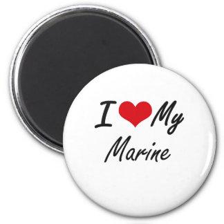 I love my Marine 6 Cm Round Magnet