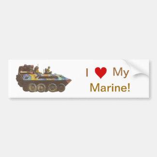 I love My Marine Guy Gal Seal Bumper Sticker