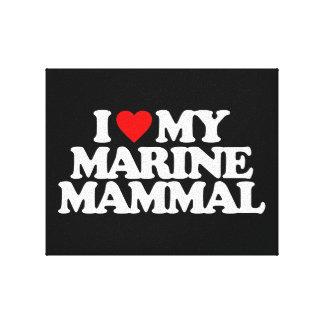 I LOVE MY MARINE MAMMAL GALLERY WRAPPED CANVAS