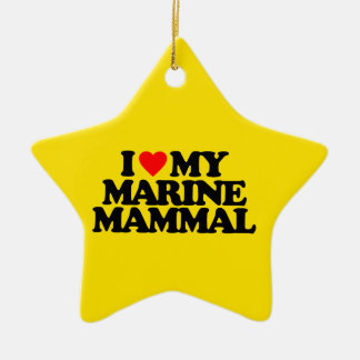 I LOVE MY MARINE MAMMAL CERAMIC STAR DECORATION