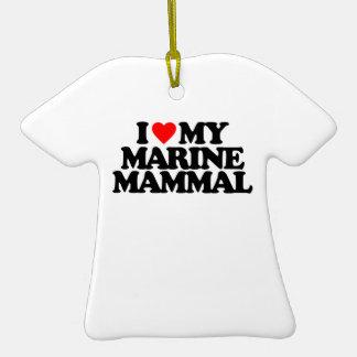 I LOVE MY MARINE MAMMAL CHRISTMAS TREE ORNAMENT