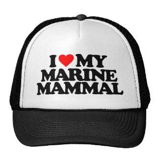 I LOVE MY MARINE MAMMAL MESH HAT