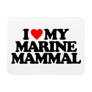 I LOVE MY MARINE MAMMAL VINYL MAGNETS
