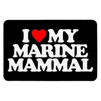 I LOVE MY MARINE MAMMAL FLEXIBLE MAGNETS