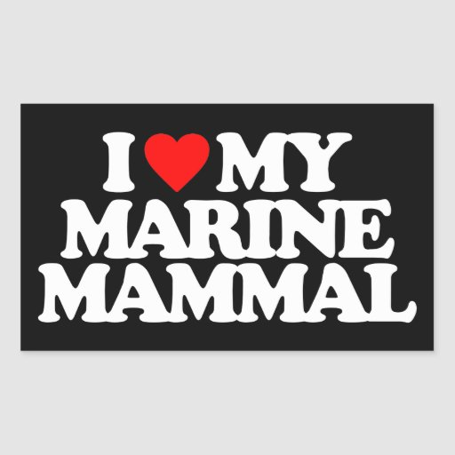 I LOVE MY MARINE MAMMAL STICKERS