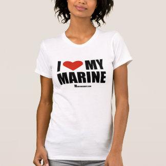 I Love My Marine Tee Shirts